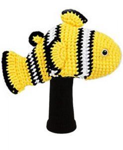 amimono clownfish yellow driver golf headcover