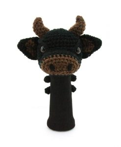 cow black driver golf headcover
