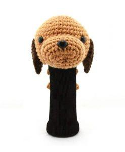 dachshund l.brown driver golf headcover