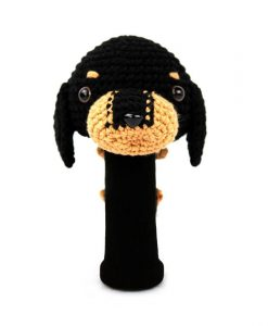 dachshund black driver golf headcover