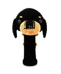 dachshund black driver golf headcover