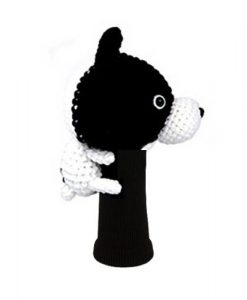 french bulldog driver golf headcover side