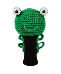 frog green driver golf headcover