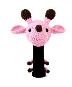 giraffe pink driver golf headcover