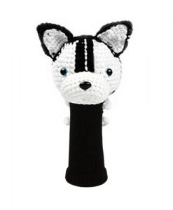 husky black driver golf headcover