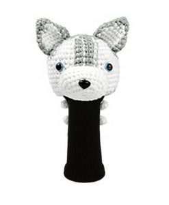 husky gray driver golf headcover