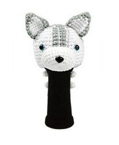 husky gray driver golf headcover