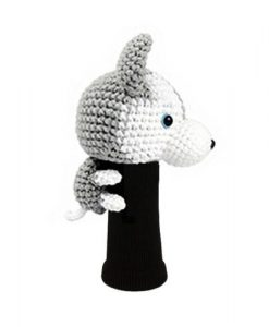 husky gray driver golf headcover side