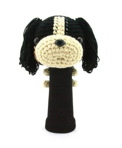 cavalier king charles spaniel black driver golf headcover