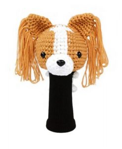 papillon l.brown driver golf headcover