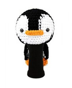 amimono penguin white driver golf headcover
