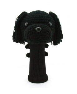 poodle black driver golf headcover