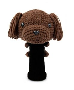 amimono poodle d.brown driver golf headcover