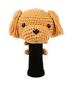 poodle lt. brown driver golf headcover