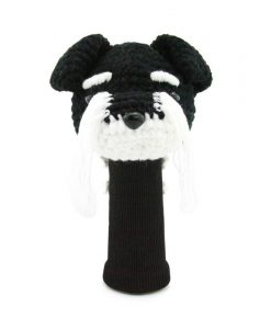 schnauzer black driver golf headcover