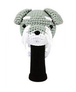 amimono schnauzer gray driver golf headcover
