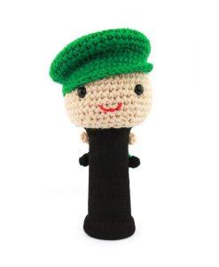 amimono boy green driver golf headcover