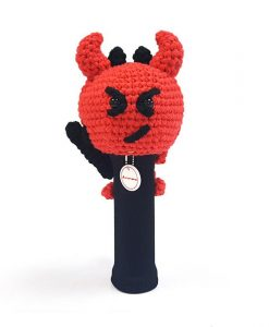 amimono devil red driver golf headcover