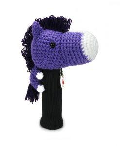 horse purple driver golf headcover