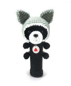 raccoon gray driver golf headcover