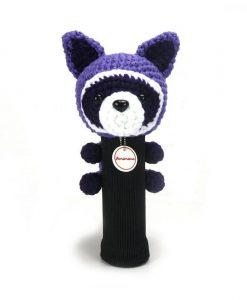 raccoon purple driver golf headcover