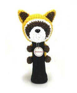 raccoon yellow driver golf headcover