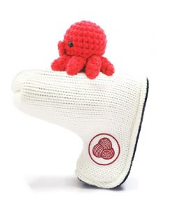 octopus white blade putter golf headcove