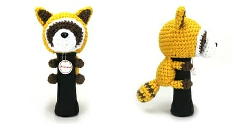 AmiFairway - Raccoon Headcover - Yellow