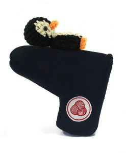 penguin black beige blade putter golf headcover