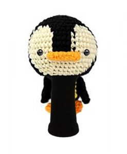 penguin black beige fairway golf headcover