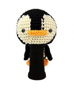 penguin black beige fairway golf headcover