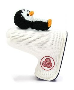 penguin white black white blade putter golf headcover