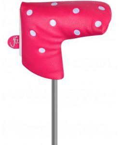 just4golf pink white dot blade putter headcover