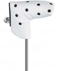 just4golf white black dot blade putter headcover