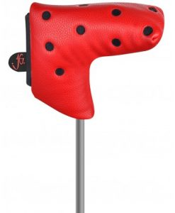 red black dot blade putter headcover