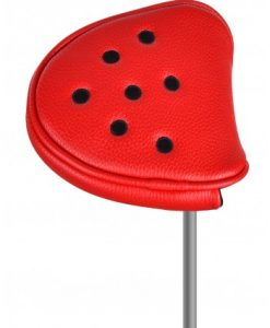 just4golf red black dot mallet putter headcover