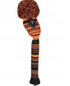 just4golf orange black variegated hybrid golf headcover