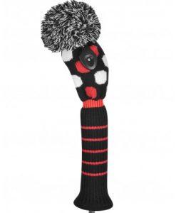 just4golf red black white medium dot fairway golf headcover