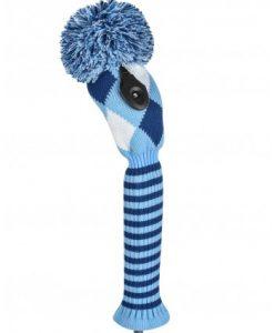 just4golf navy light blue white diamond fairway golf headcover