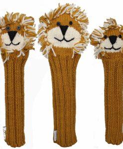 Animal Knit Golf Headcover Lion-set