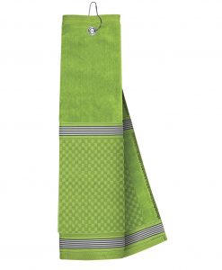 just4golf lime golf towel