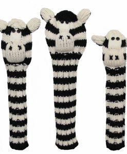 Animal Knit Golf Headcover Zebra Set