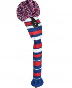 just4golf navy red white stripe fairway golf headcover