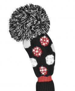 just4golf sparkle red black white medium dot fairway golf headcover