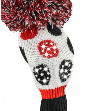 sparkle red black white large dot driver golf headcover