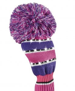 just4golf sparkle pink purple black white driver golf headcover