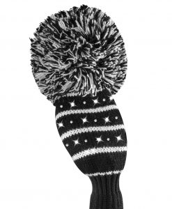 just4golf sparkle black white mini stripe hybrid golf headcover