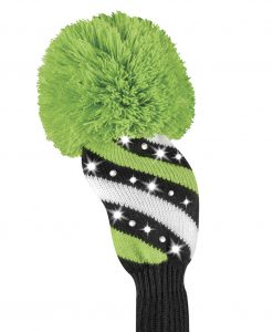 sparkle lime black white stripe fairway golf headcover