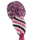 sparkle pink white black hybrid golf headcover
