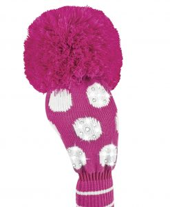 sparkle pink white dot driver golf headcover